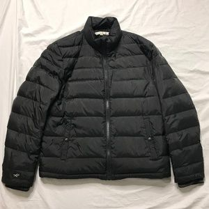 Kenneth Cole Black Full Zip Puffer Down Jacket